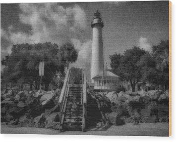 St. Simon's Lighthouse 3 Wood Print