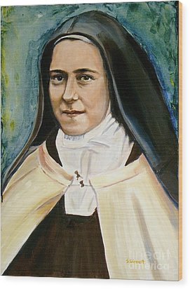 St. Therese Wood Print by Sheila Diemert