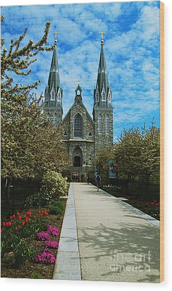 St Thomas Of Villanova Wood Print by William Norton