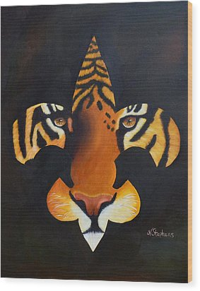 St. Tiger Wood Print by Nina Stephens