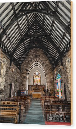 St Tudcluds Church Wood Print by Adrian Evans