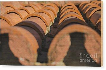 St. Vincent Roof Tiles 1 Wood Print by Deborah Smolinske