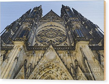 St Vitus Church In Hradcany Prague Wood Print by Jelena Jovanovic
