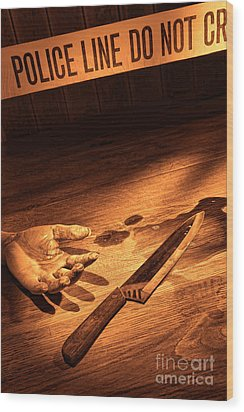 Stabbing Wood Print by Olivier Le Queinec
