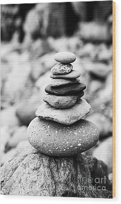 Stack Wood Print by Anne Gilbert