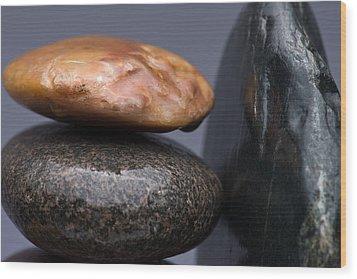 Stacked Stones 3 Wood Print by Steve Gadomski