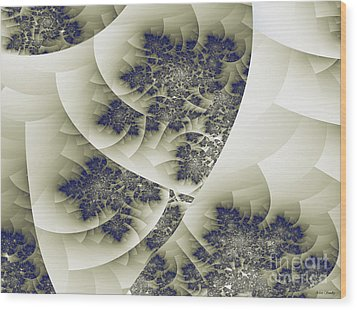 Wood Print featuring the digital art Stactal The Fractal by Arlene Sundby