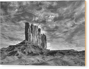 Stading Tall Wood Print