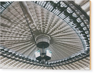 Stadium Ceiling Wood Print by Pati Photography