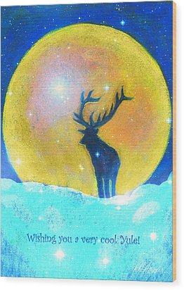 Stag Of Winter Wood Print