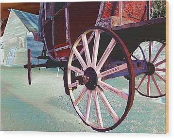 Stage Coach 1 Wood Print by Kae Cheatham