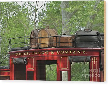 Stage Coach Wood Print by Rick  Monyahan