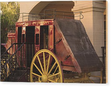 Stagecoach Wood Print