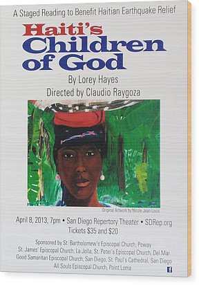 Staged Reading To Benefit Haitian Earthquake Relief Wood Print