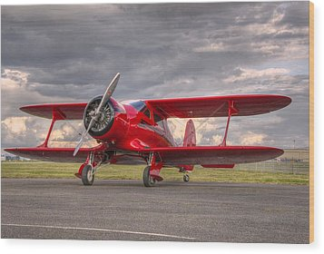 Staggerwing Wood Print by Jeff Cook