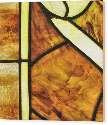 Stained Glass 2 Wood Print by Tom Druin