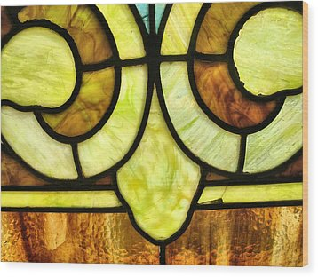 Stained Glass 3 Wood Print by Tom Druin