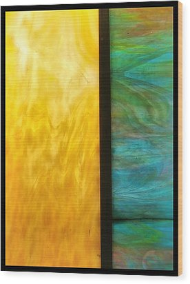 Stained Glass 4 Border Wood Print by Tom Druin