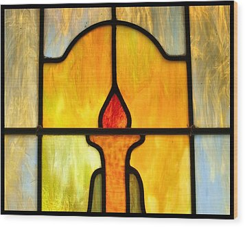 Stained Glass 7 Wood Print by Tom Druin