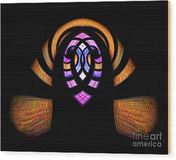 Stained Glass Abstract Wood Print by Sue Stefanowicz