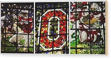 Stained Glass At The Horseshoe Wood Print by David Bearden