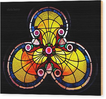 Stained Glass  Wood Print by Chris Berry