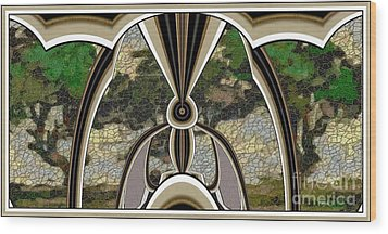 Stained Glass Collage Sgc1 Wood Print by Pemaro