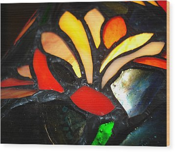 Stained Glass Five Wood Print
