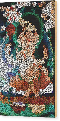 Stained Glass Ganapati Wood Print by Lanjee Chee