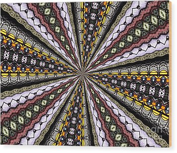 Wood Print featuring the photograph Stained Glass Kaleidoscope 1 by Rose Santuci-Sofranko
