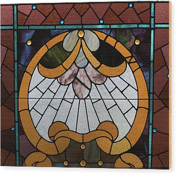 Stained Glass Lc 09 Wood Print by Thomas Woolworth