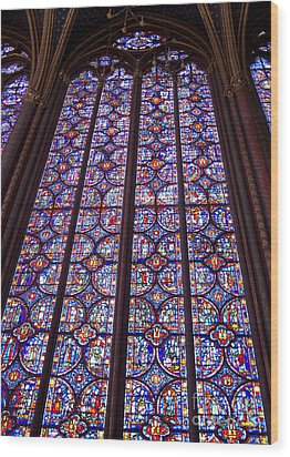Stained Glass Magnificence Wood Print by Ann Horn