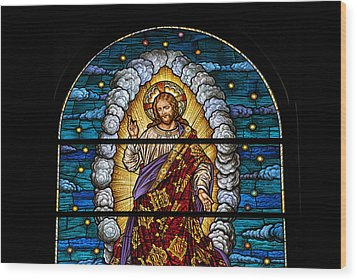 Stained Glass Pc 03 Wood Print by Thomas Woolworth