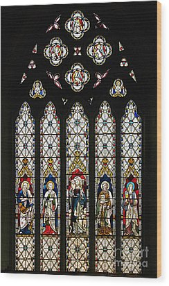 Stained-glass Window 1 Wood Print by Susie Peek