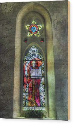 Stained Glass Window Art Wood Print by Ian Mitchell