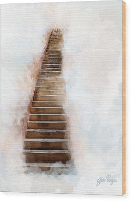 Stair Way To Heaven Wood Print