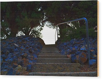 Wood Print featuring the photograph Stair Way To Heaven  by Naomi Burgess
