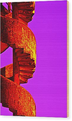 Wood Print featuring the photograph Staircase Abstract by Dennis Cox WorldViews