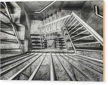 Staircase I Wood Print by Everet Regal