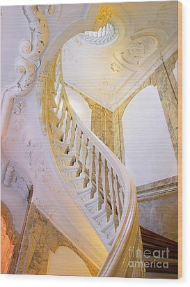 Wood Print featuring the photograph Staircase In Wood by Michael Edwards