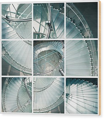 Staircase Jigsaw Wood Print by Delphimages Photo Creations