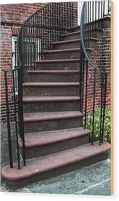 Staircase Wood Print by John Rizzuto