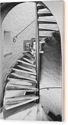 Staircase - Spiral Wood Print by Robert Culver