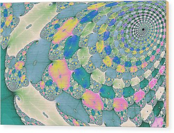 Staircase To Heaven Wood Print by Angela A Stanton