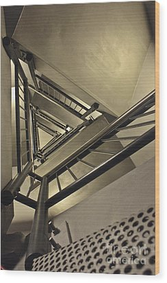 Wood Print featuring the photograph Stairing Up The Spinnaker Tower by Terri Waters