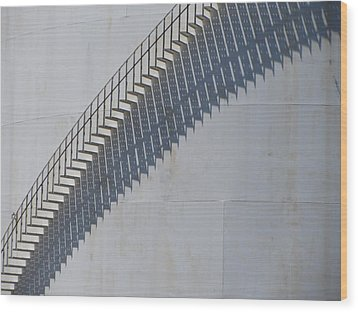 Stairs And Shadows 3 Wood Print by Anita Burgermeister
