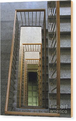 Stairs Wood Print by Ausra Huntington nee Paulauskaite