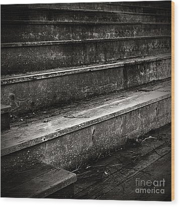 Stairs Infinity Wood Print by Charmian Vistaunet