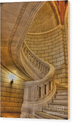 Stairs Of Mythical Proportion Wood Print by David Bearden