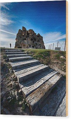 Stairs Wood Print by Okan YILMAZ